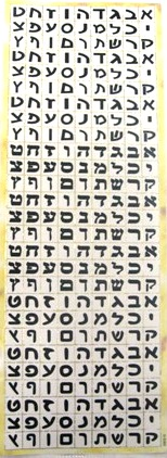 234 Black Aleph Bet Letters Gold Rimmed Stickers